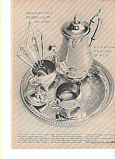 Roger Bros. Silverplate Ad 1965