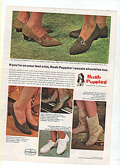 Hush puppies shoes ad  1965 (Image1)
