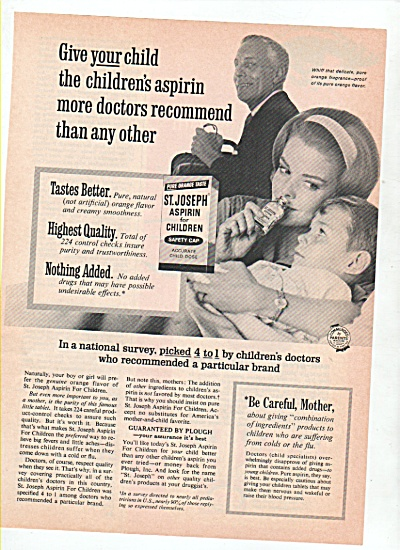 St. Joseph Aspirin for children ad 1965 (Image1)