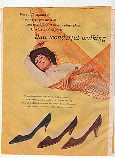 Air step shoes ad 1965 (Image1)