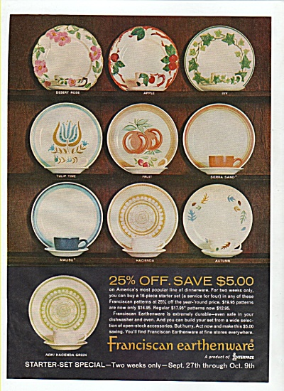 Franciscan earthenware ad 1965 (Image1)