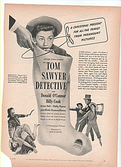 Movcie; TOM SAWYER DETECTIVE - Donald O'Conno (Image1)