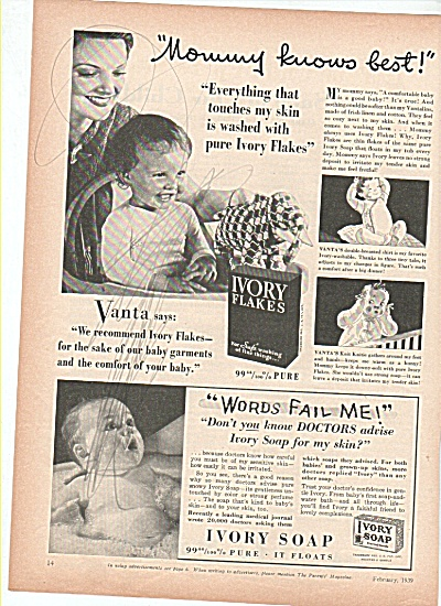 Ivory soap flakes ad 1939 (Image1)