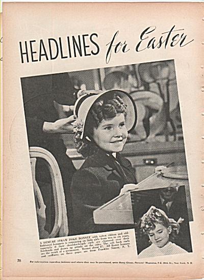 Easter Bonnets ad 1939 (Image1)