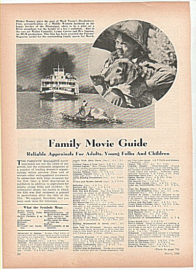 Family Movie Guide - MICKEY ROONEY 1939 (Image1)