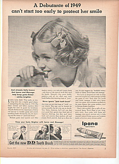 Ipana tooth paste ad  1939 DEBUTANTE (Image1)