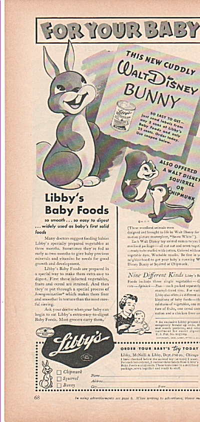 Libby's baby foods ad 1939 (Image1)