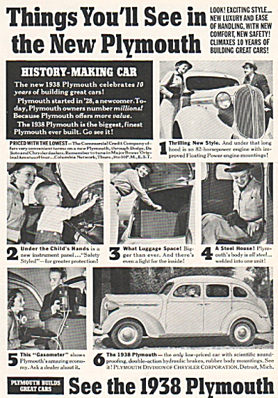 Plymouth auto for 1938 ad (Image1)