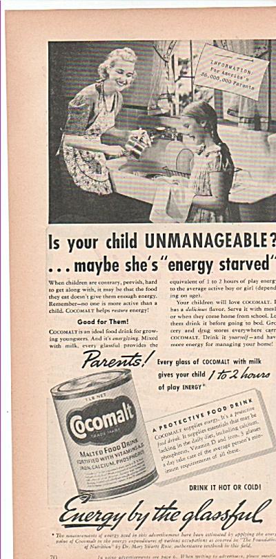 Cocomalt malted food drink ad 1939 (Image1)