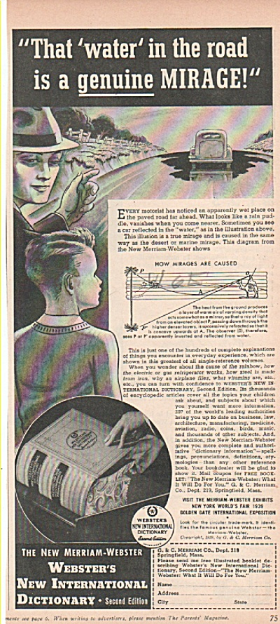 Webster's New International Dictionary Ad 193