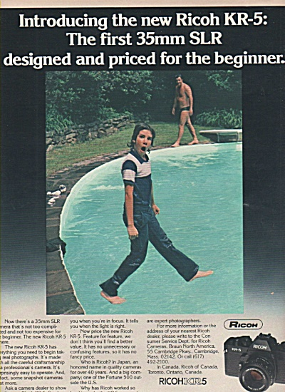 Ricoh KR5 camera ad 1979 (Image1)