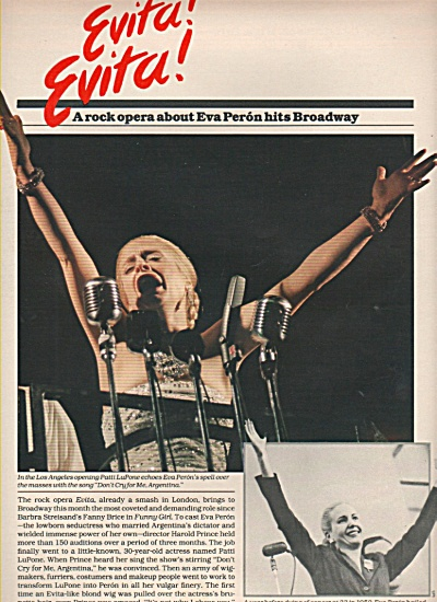 Stage Play: Evita Ads 1979