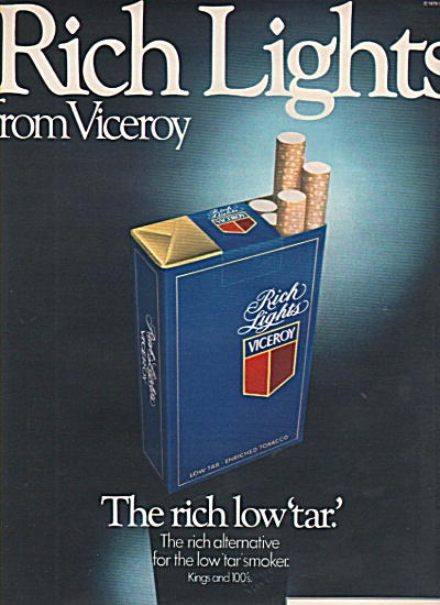 Viceroy Rich Lights cigarettes ad 1979 (Image1)