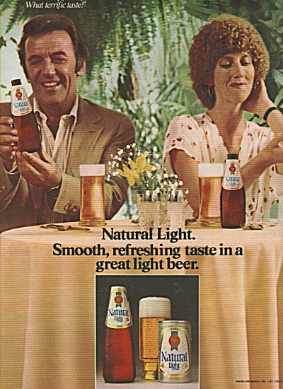 Natural Light Beer Ad 1979
