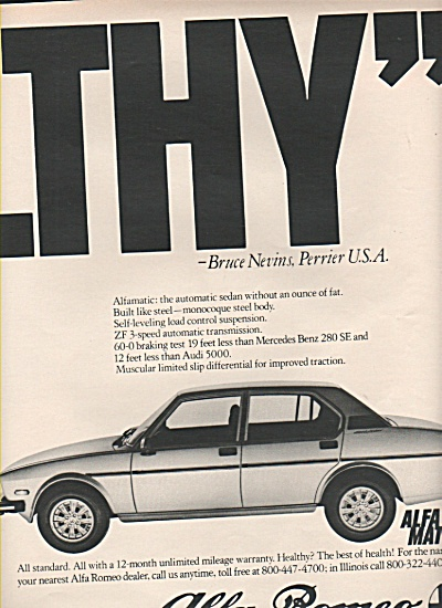 Alfa Romeo automobile ad 1979 (Image1)