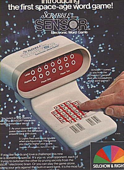 Selchow & Righter electronic word game ad1979 (Image1)