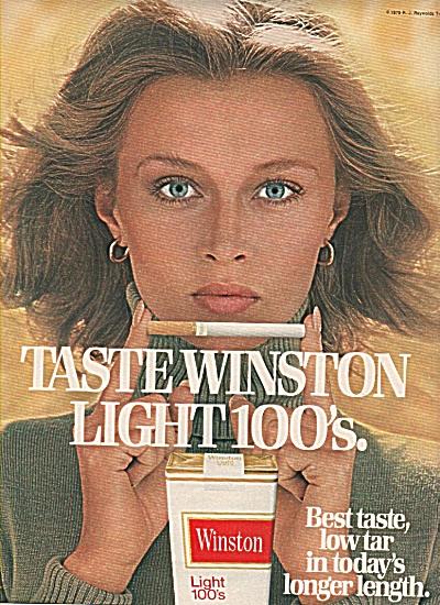 Winston light 100s cigarettes ad 1979 (Image1)