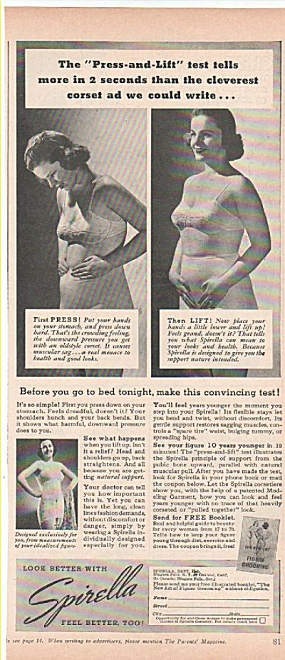 Spirella figure grooming  ad 1939 (Image1)