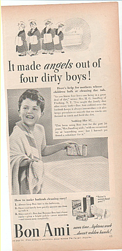 Bon Ami bathtub cleaner ad 1939 (Image1)