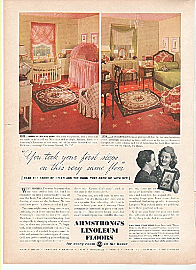 Armstrong's Linoleum floors ad 1939 (Image1)