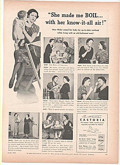 Chas H. Fletcher CASTORIA  ad 1939 (Image1)