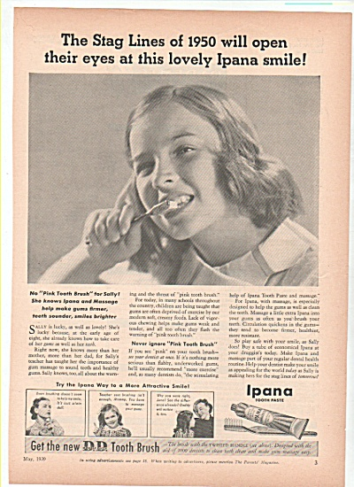 Ipana tooth paste ad 1939 STAG LINES (Image1)