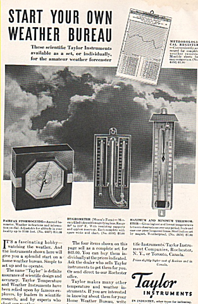 Taylor Instruments ad (Image1)