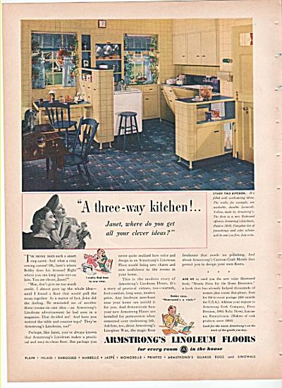 Armstrong's Linoleum floors ad -1939 RESTORATION HELP (Image1)