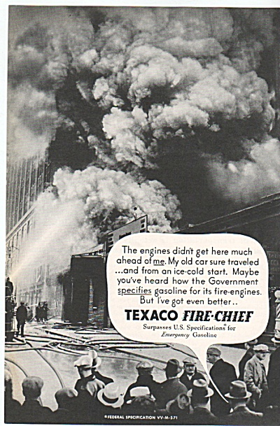 Texaco Fire Chief Gas Ad