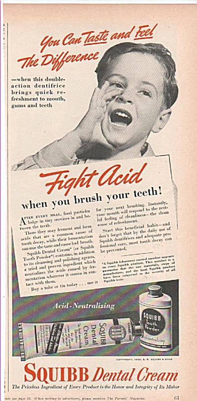 1939 Squibb Dental Cream ad 1939 (Image1)