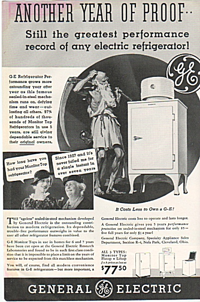 General electric refrigerator ad (Image1)