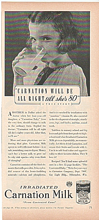 Carnation Milk ad 1939 (Image1)
