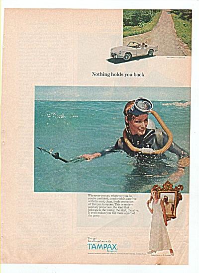 Tampax ad - 1966 Model VICKI HILBERT (Image1)
