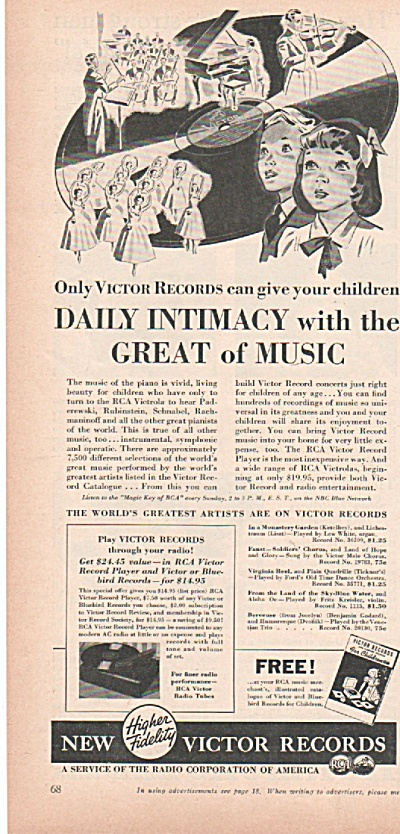 Victor Records Ad 1939