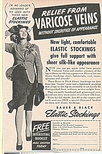 Bauer & Black elastic stockings ad 1939 (Image1)