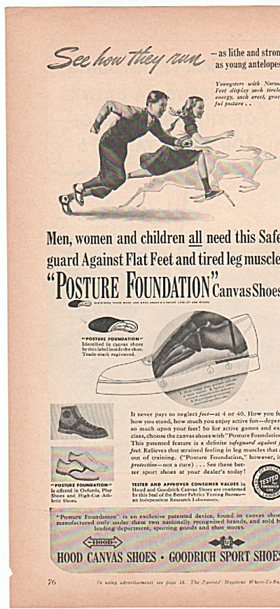 Hood canvas shoes - Goodrich sport shoes ad 1939 (Image1)