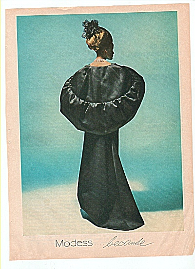 Modess ad 1966 ELEGANT LADY IN BLACK (Image1)