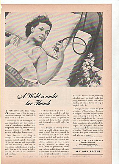 Parke, Davis &Company ad 1939 (Image1)