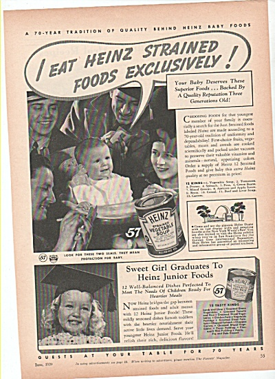 Heinz baby and junior foods ad 1939 (Image1)
