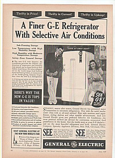 General electric refrigerator ad 1939 (Image1)