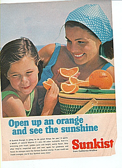 1966 SUNKIST ORANGES AD BEAUTY LADY (Image1)
