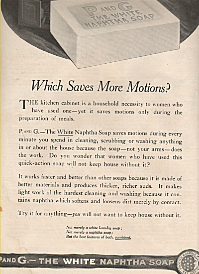 P & G - the white naphtha soap  - 1919 (Image1)
