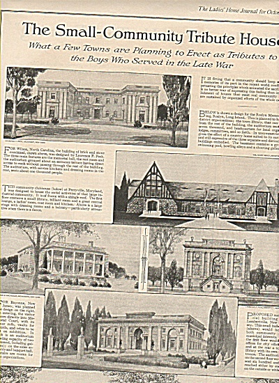 The Small community Tribute house ad - 1919 (Image1)