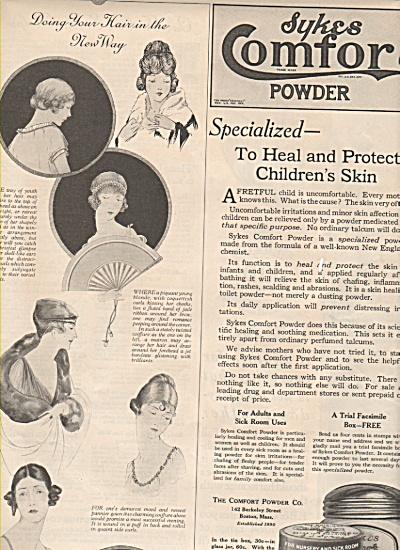 Sykes   Comfort powder ad 1919 (Image1)