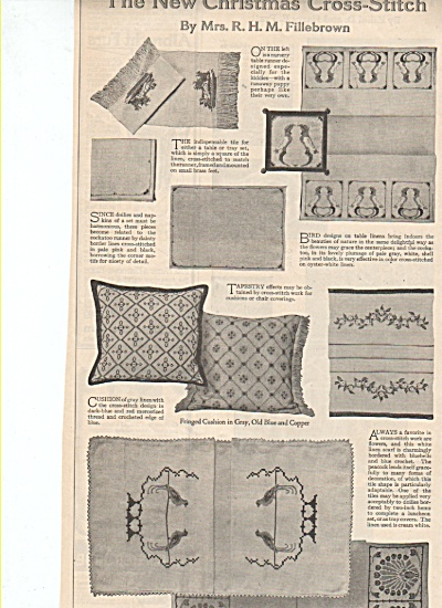 The New Christmas Cross Stitch  ad 1919 (Image1)