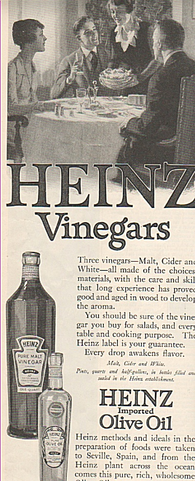 Heinz imported Olive oil ad 1919 (Image1)