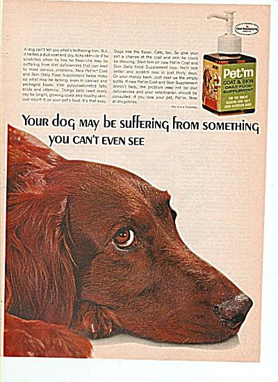Pet'm coat & skin food supplement ad 1966 (Image1)