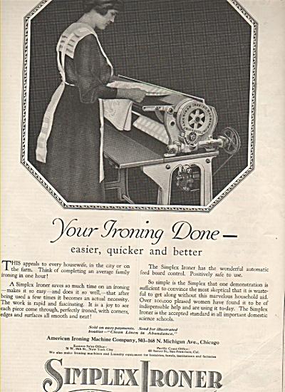Simplex Ironer ad 1919 (Image1)