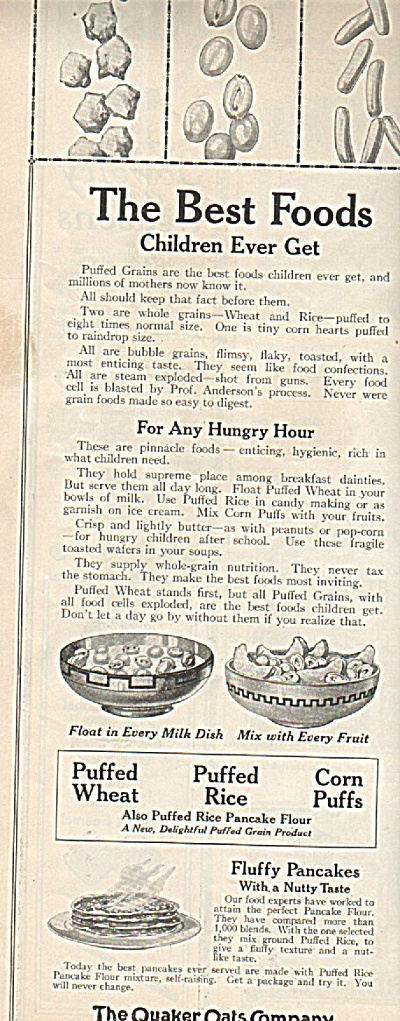 The Qucker Oats Company ad 1919 (Image1)