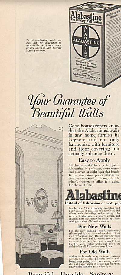 Alabastine - the sanitary wall coating -  1919 (Image1)